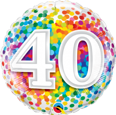 40th Birthday Confetti Design Foil Balloon